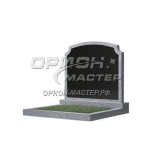 Памятник 17В из гранита фигурный 700х900х50 Китай (Комбинированный)