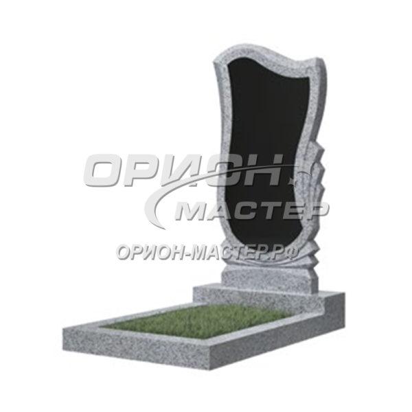 Памятник 56В из гранита фигурный 1000х500х50 Китай (Комбинированный)