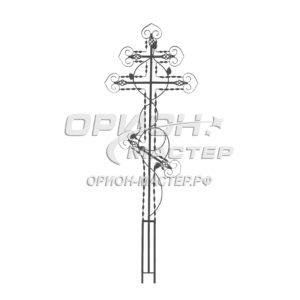 Крест надгробны из полосы №17