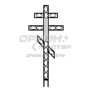 Крест надгробный сварной №7