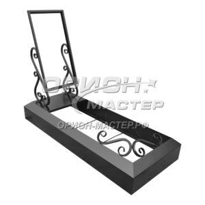 Рамка под гранитную плиту с надгробьем