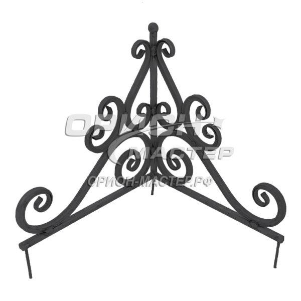 Угол из декоративной трубы на могилу №1