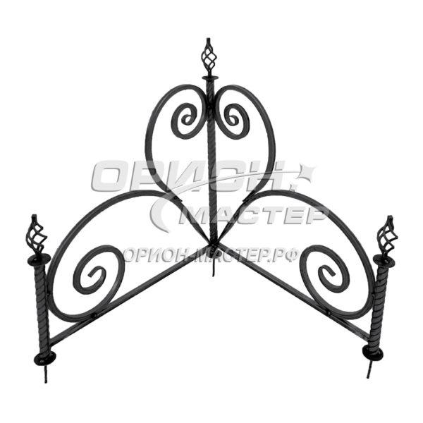 Угол из декоративной трубы на могилу №2