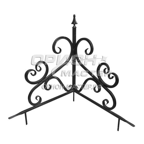 Угол из декоративной трубы на могилу №4