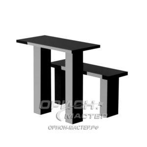 Стол и лавка из гранита TSK90